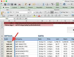 How To Do Excel Spreadsheets How To Import Share Price Data Into Excel Market Index
