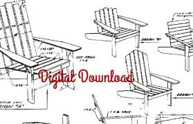 Adirondack Deck Chair Outdoor Wood Plans Download by Adirondack Chair Blueprint Vintage Woodworking Plans Patio