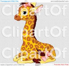 head clipart baby giraffe pencil and in color head clipart baby
