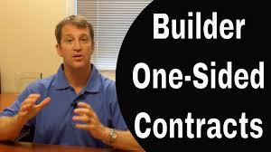 why are new home builder contract so one sided youtube