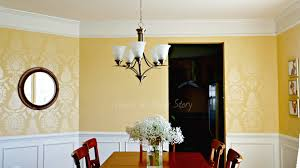 Dining Room Wall Dining Room With Stenciled Walls