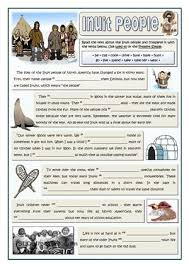 inuit people used to follow my worksheets on islcollective