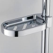 soap dish shower rod mounted soap holder practical rack bathroom
