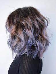 lob haircut dark wavy hair 31 lob haircut ideas for trendy women lavender highlights lob