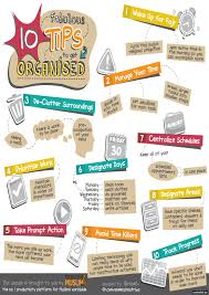 ten fabulous tips to get organised islamic infographic