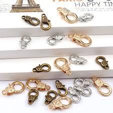 bracelet clasps diy images New handcuffs lock rose gold white k lobster clasps hook key chain jpg