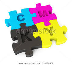 Cmyk Color Spectrum Puzzle Creative Cmyk Logo Icon Design Collection Stock Vector 114312253