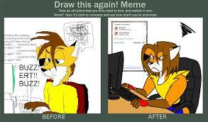 Draw This Again Meme Fail - draw it again meme weasyl