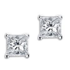back earrings for men diamond stud earrings xl big square dia back white