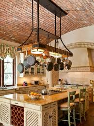 Kitchen Island Light Fixtures by Kitchen Update Your Kitchen In Style With Lighted Pot Rack