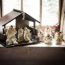 belleek deluxe irish nativity set the irish store