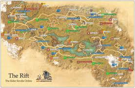 Elder Scrolls Map The Rift Ebonheart Pact The Elder Scrolls Online Game Guide