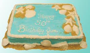 birthday cake beach theme