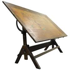 Large Drafting Table Large Antique American Industrial Oak And Cast Iron Drafting Or