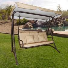 Swing Bed With Canopy Outdoor Swing Bed Wayfair