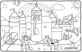 emejing castle knights coloring pages ideas new printable meta