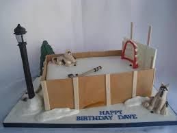 backyard ice rink cake replica of my clients backyard hock u2026 flickr