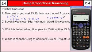 6 4 using proportional reasoning basic maths core skills level 6