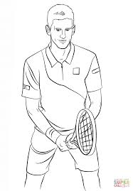 novak djokovic coloring page free printable coloring pages