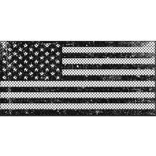 White American Flag Under The Sun Distressed Black White Wrangler Jk Grille Insert