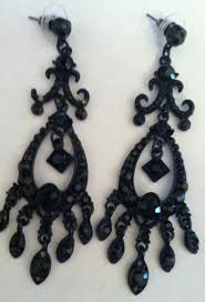 black chandelier earrings non sterling earrings silverlady inc