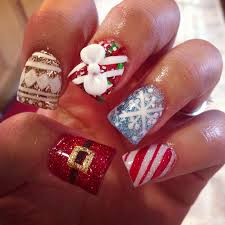 christmas nail art design u2013 inspirational winter teenage manicure