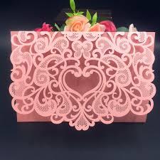 Design Invitation Cards 50pcs Romantic Envelope Design Wedding Invitations Cards Laser Cut