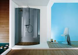 Curved Shower Bath Screen Fixed Shower Screen Corner Curved Open Surf B4960 Samo