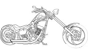 free printable motorcycle coloring pages preschoolers ghost