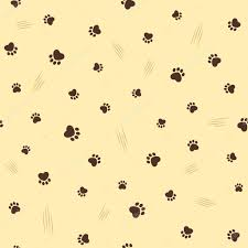 theme line yellow claw cat theme seamless background stock vector catchat 65876069