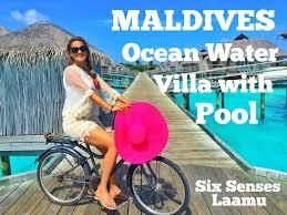 maldives ocean water villa with pool at six senses laamu youtube