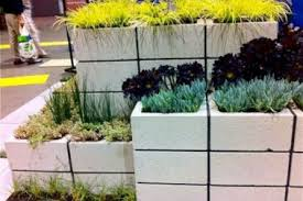 5 block designs wall planter cinder block planter wall decor