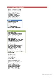 Hit The Floor Online - last friday night lyrics by katy perry worksheet free esl