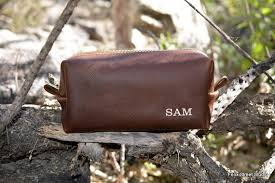 personalized groomsman gifts leather handmade dopp kit toiletry