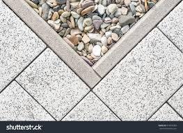 floor design terrace tiles ornamental gravel stock photo 513976360