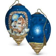hand painted blown glass ornament u201csleep in heavenly peace