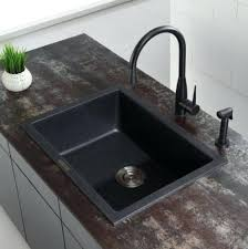 black faucet with stainless steel sink black kitchen sink inch single bowl gauge stainless steel kitchen