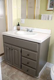 Spray Paint Bathroom Vanity Painting A Bathroom Vanity And Cabinet And Spray Painting Hardware