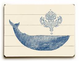breakwater bay damask whale wooden wall reviews wayfair