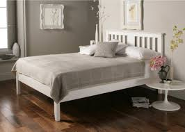 malmo white wooden bed frame double bed frame only furniture