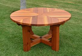 Wood Patio Table Redwood Tables Patio Furniture Forever Redwood