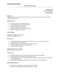 carpenter resume exle carpentry skills resume resume sle