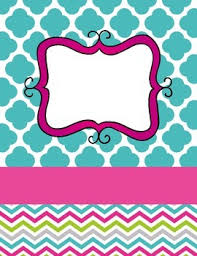 free printable fall chevron binder cover template download the