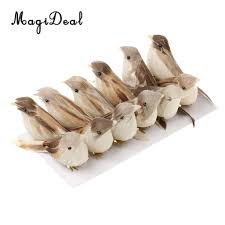 compare prices on woodland decor online shopping buy low price magideal 12pieces perched woodland birds artificial feather bird home ornaments decor china mainland