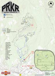 Double Map Complete Trail System Map U2013 Prkr Mtn Trails