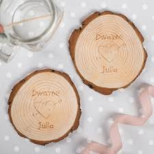 wedding gift hers uk his and hers wooden tree carving coasters gettingpersonal co uk