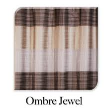 ombre jewel brown fabric shower curtain curtain u0026 bath outlet