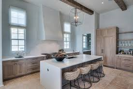Carriage House Cabinets Beach Cottage Kitchen With Stained Oak Cabinets And Bronze Pulls