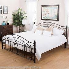 Metal King Size Bed Frame by Colonial Beds U0026 Bed Frames Ebay