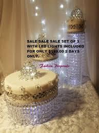 wedding cake stand cascade waterfall crystal set of 3 asianwedding